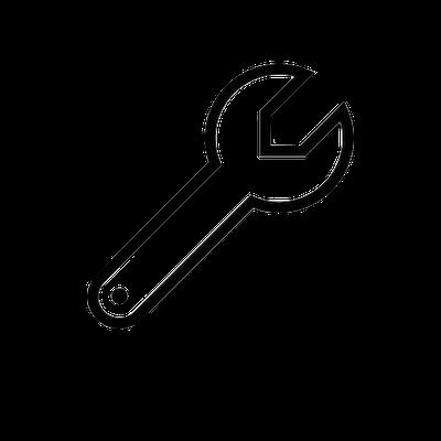 Icon cle à molette